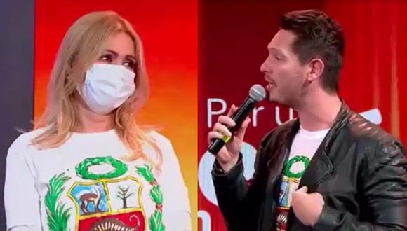 Cristian Rivero se deshizo en elogios con Gisela Valcárcel. (Facebook Teletón)