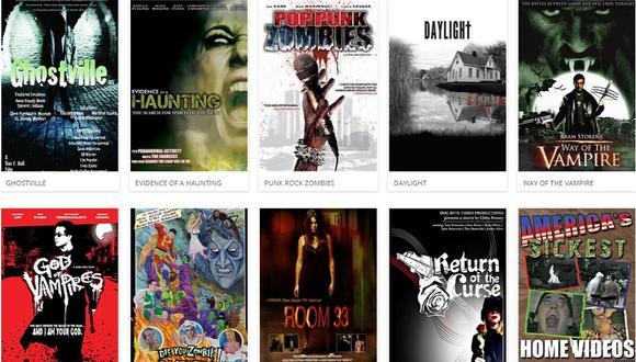 Viewster es una plataforma gratuita que tiene un amplio catálogo de películas de terror (Foto: Viewster)