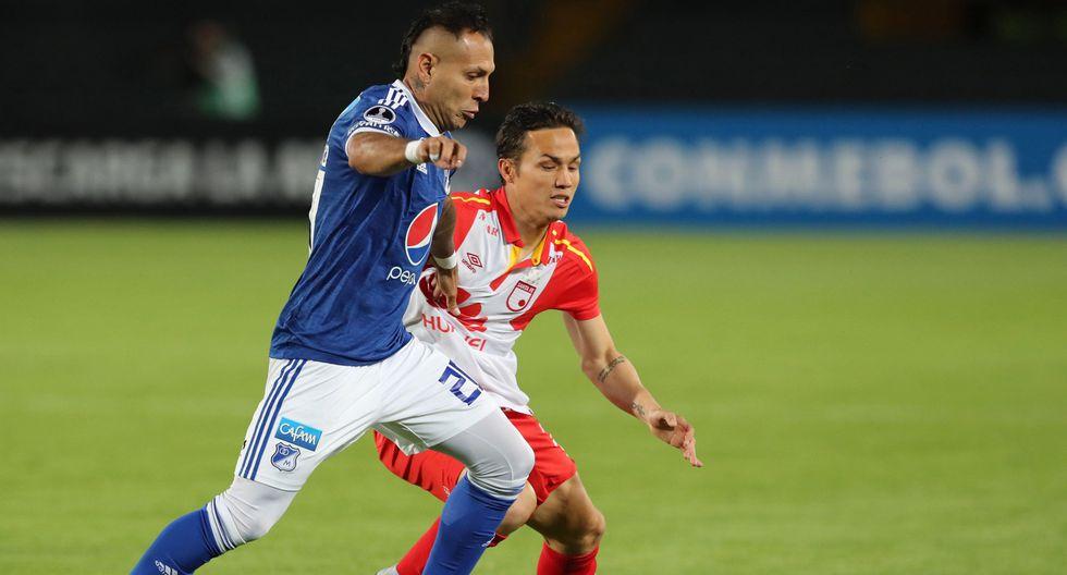 Santa Fe ganó por penales a Millonarios y pasó a cuarto de final de la Sudamericana. (EFE)