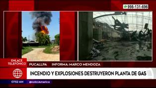 Incendio destruyó planta de gas de Pucallpa y suspenden inmunización contra el COVID-19 por precaución