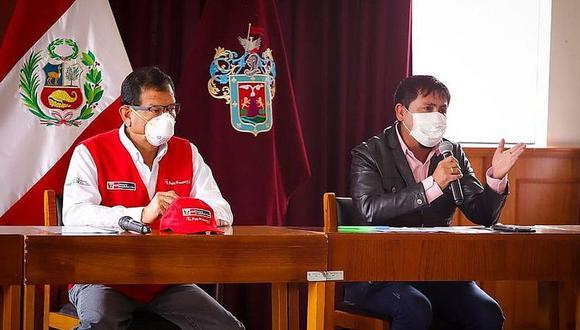 Arequipa: Ministro de Agricultura; Jorge Montengro, se reunió con el gobernador de Arequipa, Elmer Cáceres, quien pidió no dejar más aviones del extranjero a la Ciudad Blanca