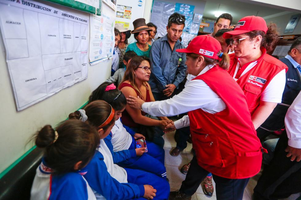 El personal del Minsa llegó al lugar para atender a los menores de edad ante la alerta sanitaria por arsénico en la sangre.(Foto: Minsa)