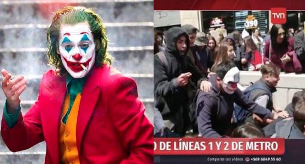 En Chile, personas lucieron máscaras del Joker para protestar contra alza de precios en los pasajes del Metro. | Composición