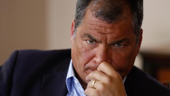 El expresidente de Ecuador, Rafael Correa, en una imagen del 18 de enero del 2018. (EFE/José Jácome).