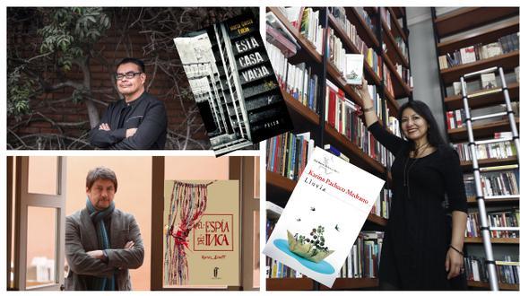 Karina Pacheco, Marco García Falcón y Rafael Dumett se encuentran entre los autores más destacados por Perú21 en 2018 (Perú21/Difusión).