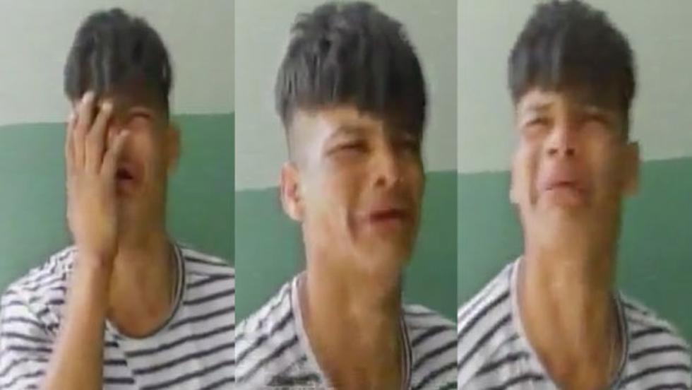 Albert Zúñiga Facho fue detenido tras robar celulares.