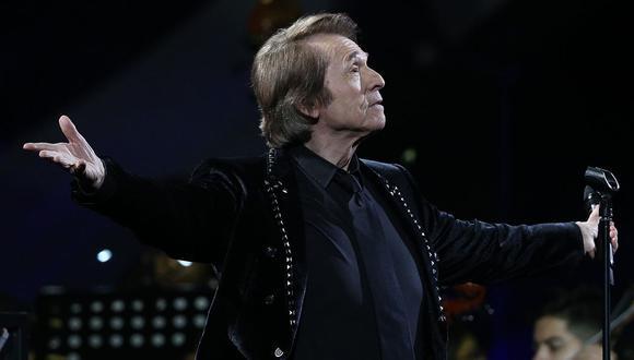 """Raphael: """"Trabajamos muy duro para ofrecer conciertos con estrictas medidas"""". (Foto: Claudio Reyes / AFP)"""
