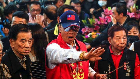 Gou dijo que sólo aceptaría la candidatura del KMT, si gana en unas elecciones primarias abiertas y transparentes, y no si se le designa de otro modo. (Foto: EFE)