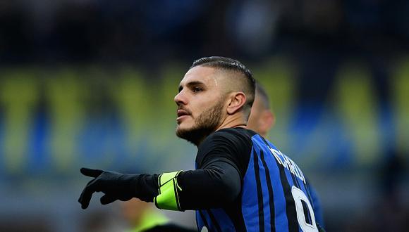Mauro Icardi es el goleador del Inter de Milan. (GETTY)