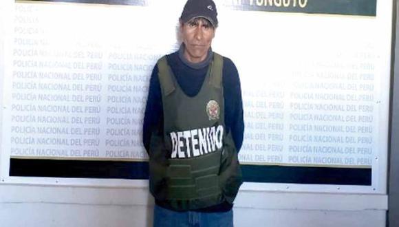 Puno: el sentenciado fue detenido el miércoles 19 de junio del año pasado, en un operativo de control de identidad