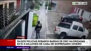 Sujetos disfrazados de policías robaron barras de oro valorizadas en 4 millones de dólares