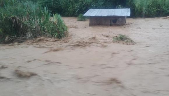 Huánuco: el COER reportó también afectó dos viviendas, en el centro poblado de Cachicoto, en Monzón.