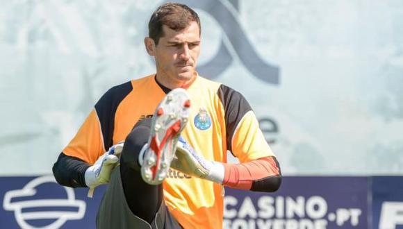 Iker Casillas sufrió esta semana un infarto en entrenamiento de Porto. (Foto: FC Porto)