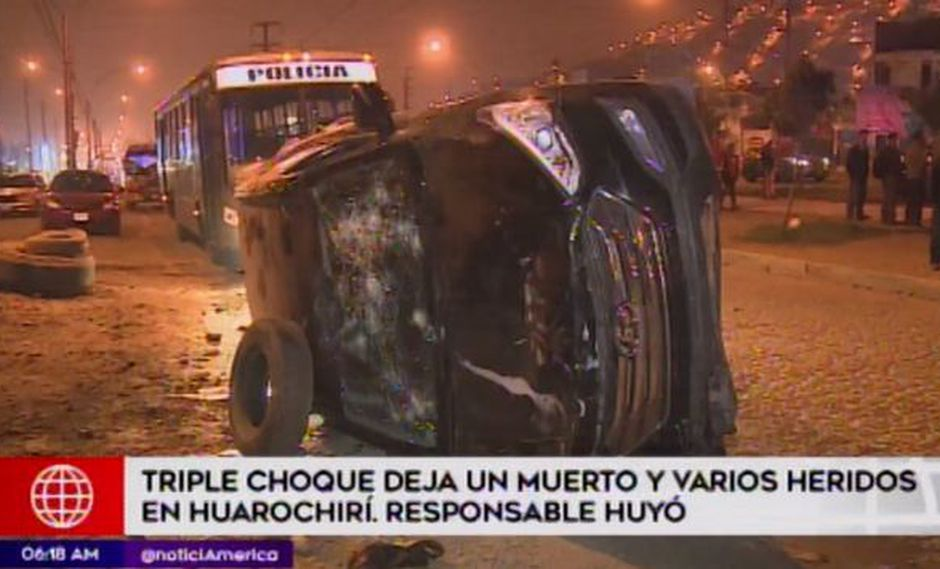 Una persona murió a causa del accidente. (Foto: Captura/América Noticias)
