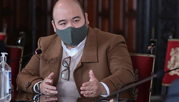 Diethell Columbus, vocero de la bancada de Fuerza Popular, cuestionó a Martín Vizcarra por su defensa ante el pleno del Congreso. (Foto: PCM)