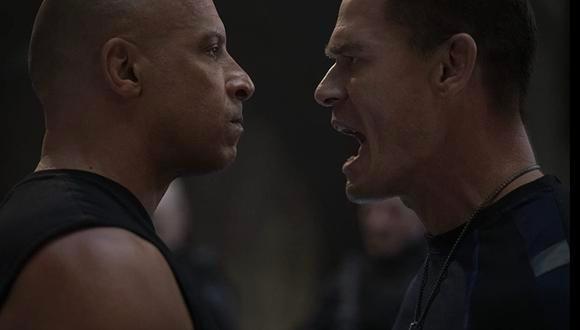 """Vin Diesel y John Cena en una escena de """"Rapidos y Furiosos 9"""". (Foto: Universal Pictures)"""