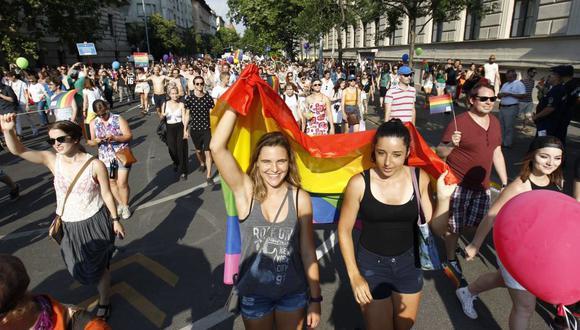 Marcha del Orgullo LGTBI en Hungría. (EFE)