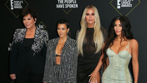 Kris Jenner, Kourtney Kardashian, Khlo Kardashian y Kim Kardashian son algunas de las integrantes de la familia más famosa de Estados Unidos (Foto: AFP)
