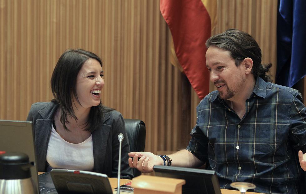 España: Irene Montero y Pablo Iglesias revelaron que serán padres. (EFE)