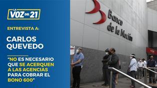 """Banco de la Nación: """"No es necesario que se acerquen a las agencias para cobrar el Bono 600"""""""