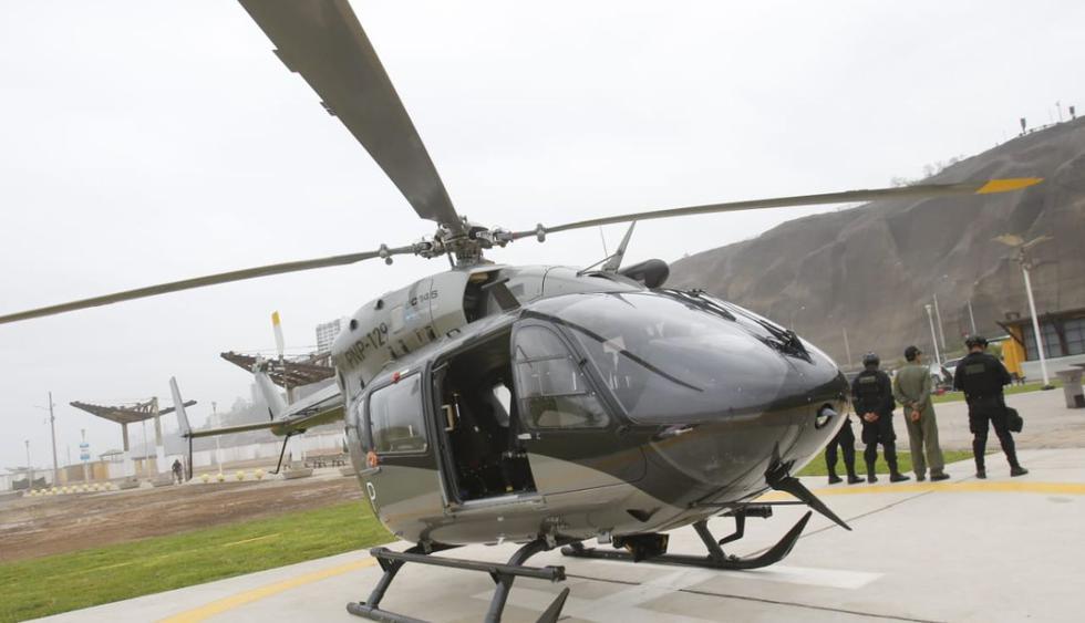 La Policía Nacional y la Municipalidad de Magdalena del Mar inauguraron el primer helipuerto en la Costa Verde. (Foto: Miguel Bellido)
