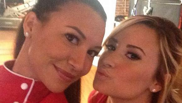 Naya Rivera compartió una foto en la que posa junto a una amorosa Demi Lovato. (Instagram)