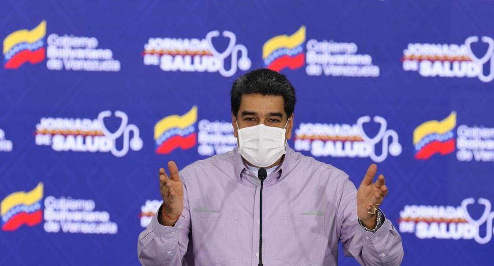 Nicolás Maduro acusó a su par colombiano, Iván Duque, de un supuesto plan para infectar con COVID-19 a venezolanos. (EFE//MIRAFLORES).