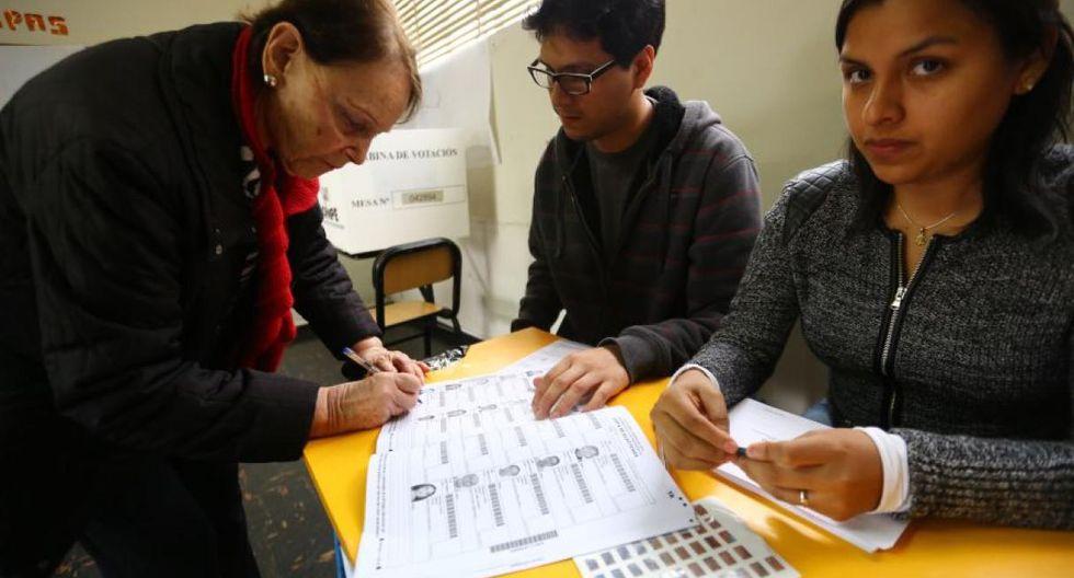 Según la ONPE, se elegirán seis miembros de mesa, tres titulares y tres suplentes. (Foto: GEC)