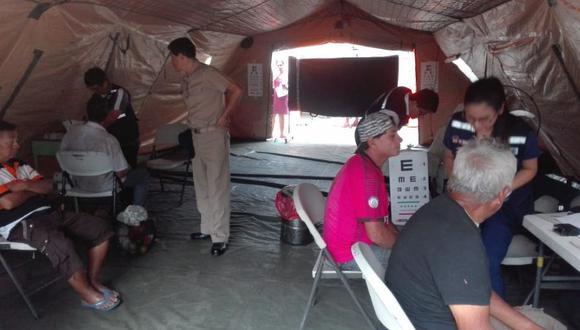 Los especialistas del INO atendieron a más de 300 pobladores en condiciones de vulnerabilidad de Perú y Ecuador y detectaron casos de ametropías, entre otros males. (Foto: Minsa)