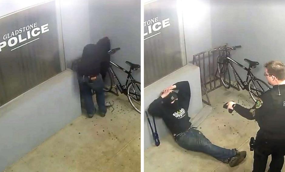 """Ladrón intentó robar una bicicleta de un lugar que ninguno de sus """"colegas"""" se atrevería y recibió su merecido. (Foto: theCHIVE en Facebook)"""