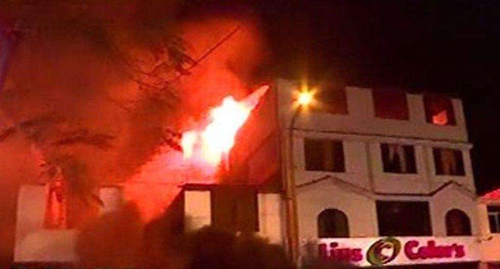 La emergencia ha causado alarma en La Victoria. (Foto: Captura/Latina)