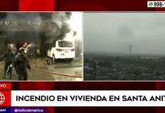 Santa Anita: incendio en edificio moviliza a 15 unidades de bomberos