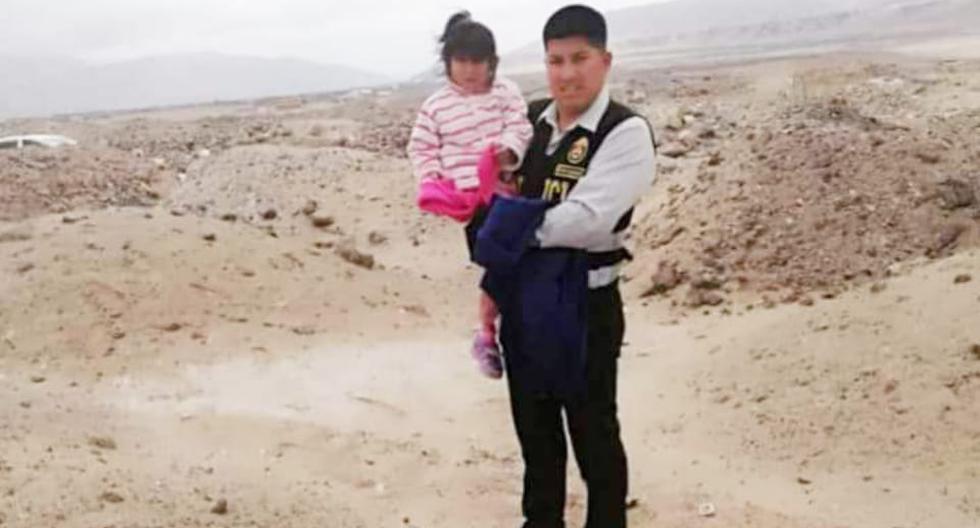 Policía halla a niña de 5 años en compañía de su mascota. (El Puerto Noticias)