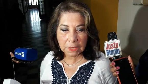 La congresista Martha Chávez señaló que por momentos es silenciada cuando quiere emitir sus opiniones (GEC).
