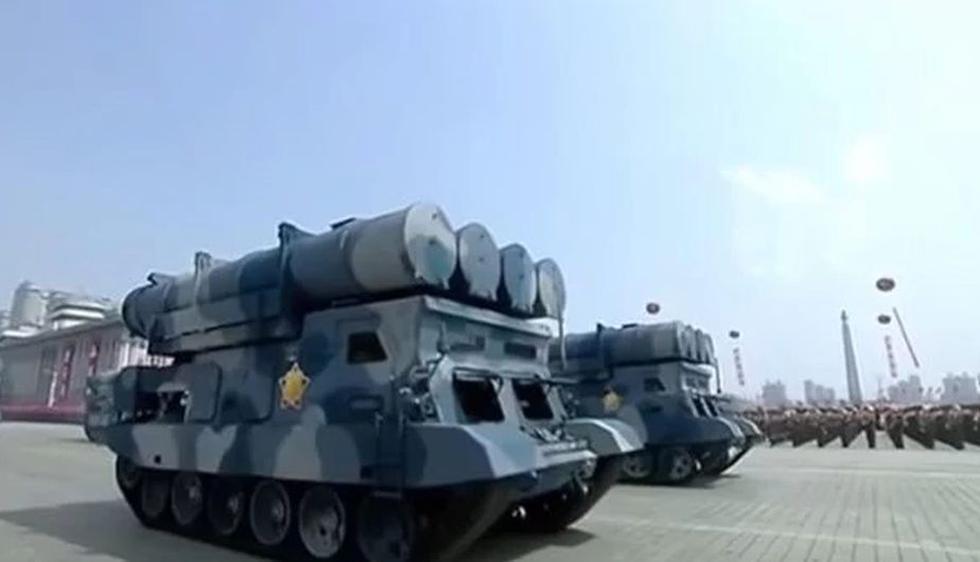 Corea del Norte: Lanzadores de misiles crucero (Captura)