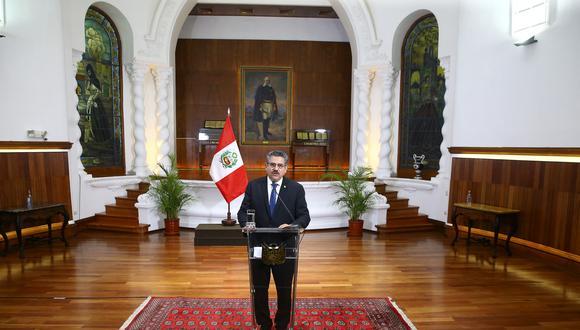 Manuel Merino renunció al cargo de  jefe de Estado tras seis días en el puesto. (Foto: Presidencia)
