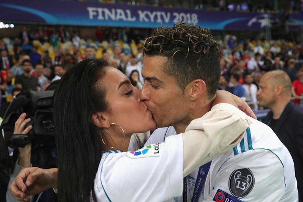 Georgina Rodríguez felicitó a CR7 por su notable actuación frente al Atlético de Madrid. (Getty)