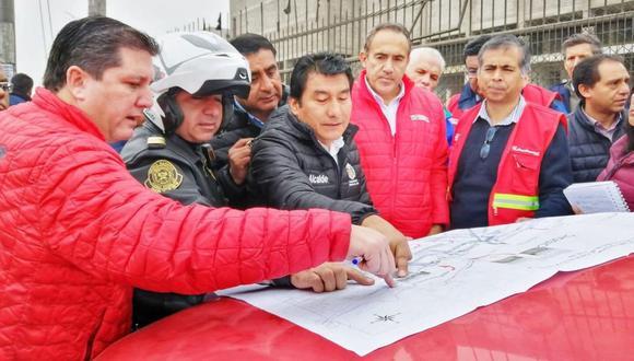 Autoridades evaluaron medidas ante cierre de la Carretera Central. (Facebook/AATE)