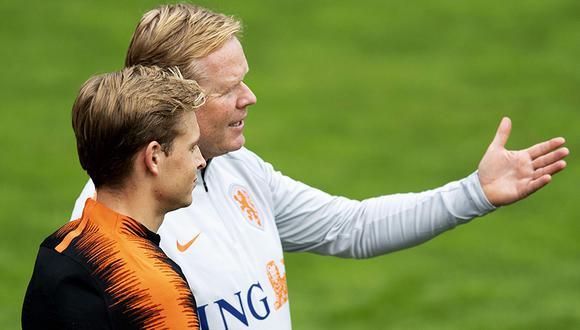 Ronald Koeman defiende partido ante Perú y despedida de Wesley Sneijder. (Foto: AFP)