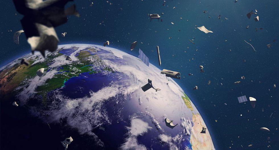 ESA: Basura espacial equivale, en metal, a la Torre Eiffel. (Getty Images)