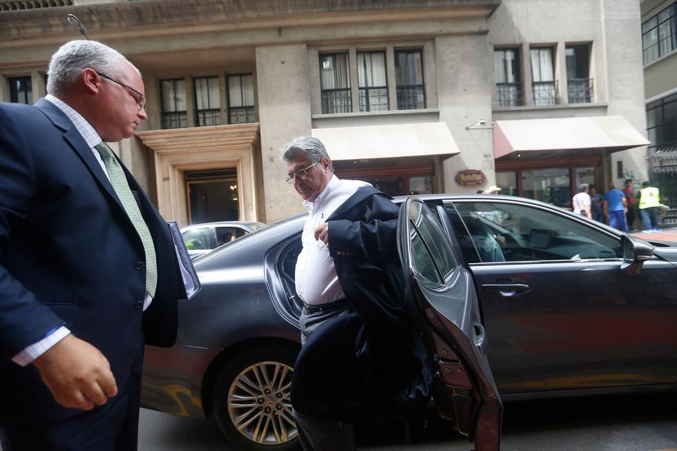 Ricardo Briceño, ex presidente de la Confiep, se presenta ante la Fiscalía. (Mario Zapata/Perú21)