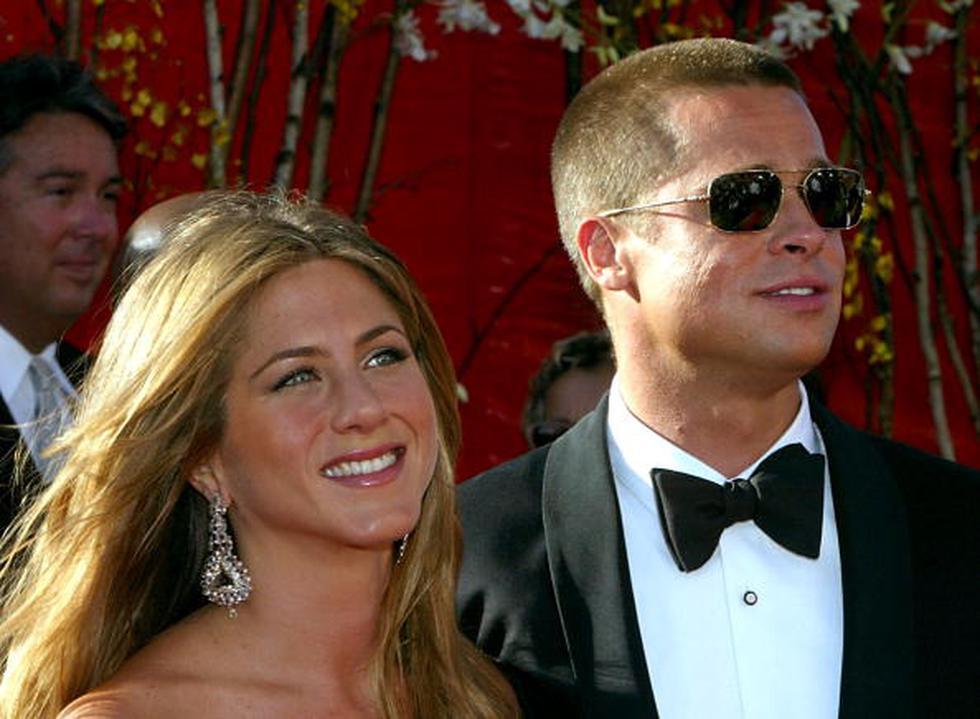 La imagen en donde Jennifer Aniston y Brad Pitt reaparecen besándose no sería más que un montaje y su supuesta reconciliación no más que un invento. (Getty)