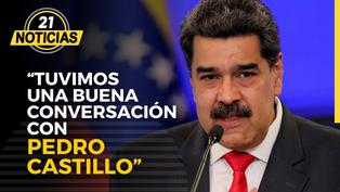 """Nicolás Maduro: """"Tuvimos una buena conversación con el presidente Pedro Castillo"""""""