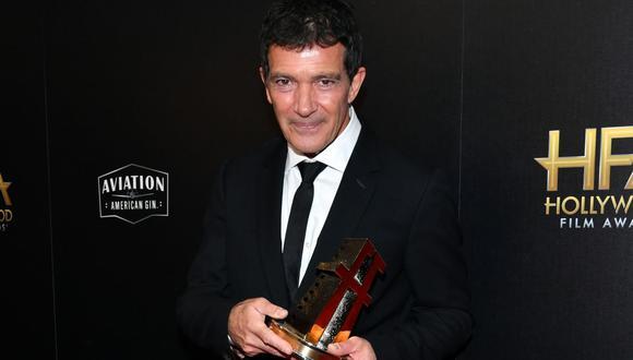 Antonio Banderas ganó el premio al Mejor actor en los Hollywood Film Awards. (Foto: AFP)