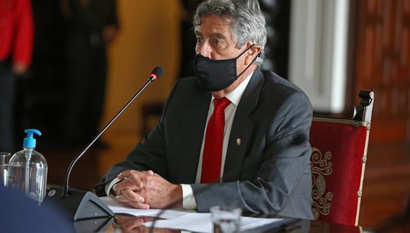 """""""Yo creo que es un pedido inadecuado, eso de intervenir desde el Ejecutivo en otra rama"""", señaló Sagasti. (Foto: Presidencia de la República)"""