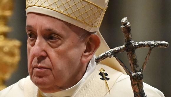 """Jorge Bergoglio dijo que """"el odio y la violencia creciente que está afectando varias ciudades en Israel es una herida grave a la fraternidad"""". (Foto: Alberto PIZZOLI / AFP)."""