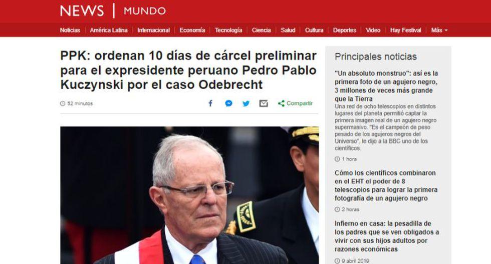 Ordenan detención preliminar contra el ex presidente Pedro PabloKuczynski. (Foto: BBC)