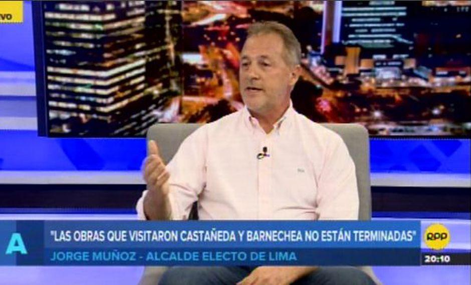 Jorge Muñoz minimizó encuentro entre Luis Castañeda Lossio y Alfredo Barnechea. (Foto: RPP Televisión)