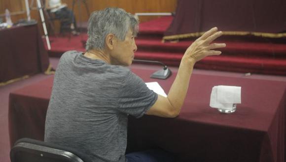 Alberto Fujimori esperó por una hora la llegada del testigo. (David Vexelman)