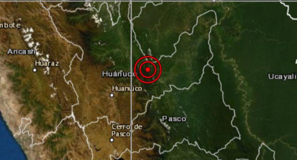 De acuerdo con el IGP, el epicentro de este movimiento telúrico se ubicó a 27 kilómetros al noroeste de Codo del Pozuzo. (Foto: IGP)